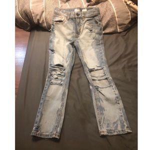 Boys size 7 light washed distressed jeans